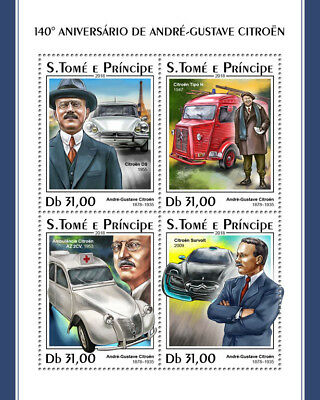 Z08 IMPERF ST18312a Sao Tome and Principe 2018 Citroen MNH ** Postfrisch