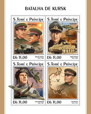 Z08 IMPERF ST18319a Sao Tome and Principe 2018 Battle of Kursk MNH ** Postfrisch