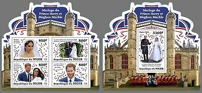 Z08 NIG18325ab Niger 2018 Royal Wedding Meghan Markle MNH ** Postfrisch Set