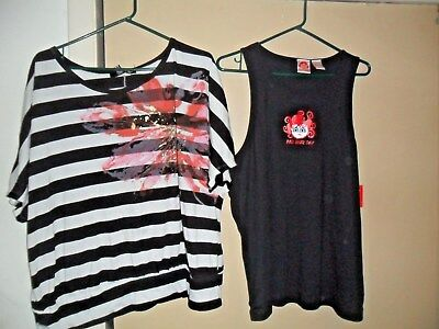 Lot Of Two Plus Size  Tank Top  & Striped Shirt Xxxl  -14/16W