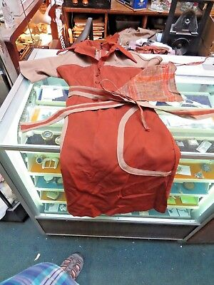 "3 Sambo""s Restaurant Waitress Uniforms With Scarf Size 6 U Can Exchange 4 Larger"