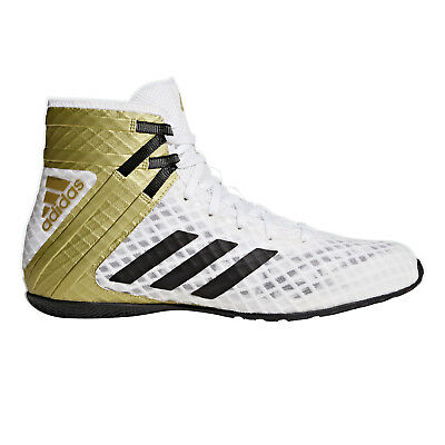 adidas Speedtex 16.1 Mens Adult Boxing Trainer Shoe Boot White/Gold