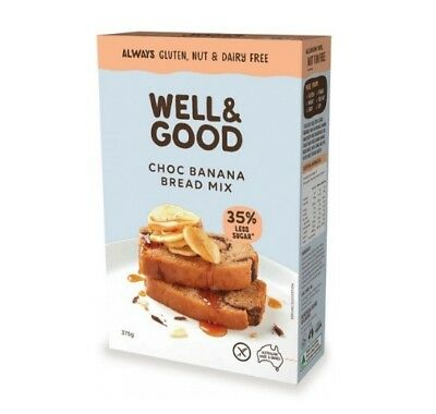 Well and Good Choc Banana Bread Mix 375g - Gluten, Nut & Dairy Free