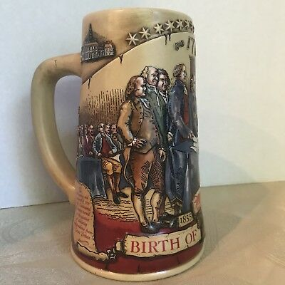 **Collector Miller Beer Stein 1992*Birth of A Nation Edition*2nd Series*Ceramic