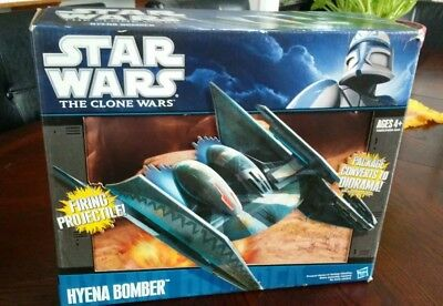 Star Wars Hyena Bomber The Clone Wars 2010 Hasbro Complete with Instructions