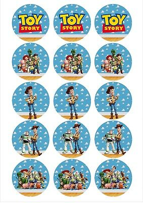 Edible Cupcake Toppers TOY STORY PRE CUT - Highest Australian Quality