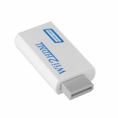 Wii2HDMI Full HD 1080P 720P Converter Video Upscale Adapter 3.5mm Audio Output