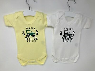 Baby Vest, Farmer,Tractor Driver, Coming Soon , New Baby