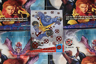2018 Fleer Ultra X-Men Beast Red Autographed by Artist 42/50