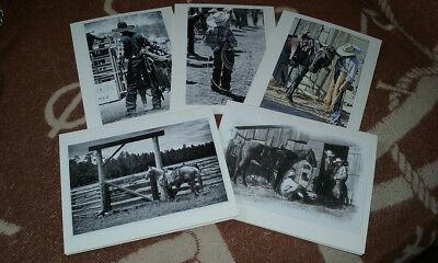 Western Cowboy Cowgirl Photo Art Cards 5 x 7 (5 pack)