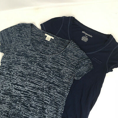 Mixed Lot of 2 Size Large Blue T-Shirts Aeropostale & Unbranded womens juniors