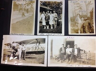 Vintage Snapshots Photo Album~Cars~Airplane~Pedal Car~Kids~Bathing Suits~1920's