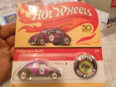 Hot Wheels 2018 Originals 50Th Anniversary Volkswagen Beetle 2/5 Purple Redlines