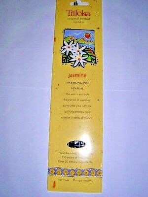 Triloka Herbal Jasmine Incense Sticks - Meditation/Prayer