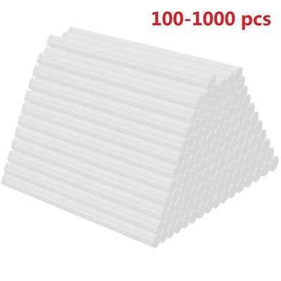 "100-1000 Hot Melt Mini Glue Gun Stick 7mmx100mm Clear White Wholesale 0.27"" x 4"""