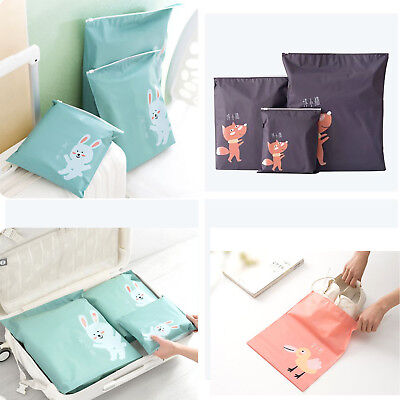 Portable Waterproof Laundry Travel Organizer Bag Pouch Cartoon Cute Storage Case