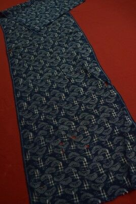JK31/60 Vintage Japanese Fabric Linen Antique Boro Patch Indigo Blue KASURI""