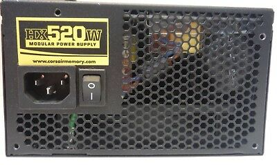 Corsair HX520W (520 watts) Power Supply, Model CMPSU-520HX, Clean & Tested