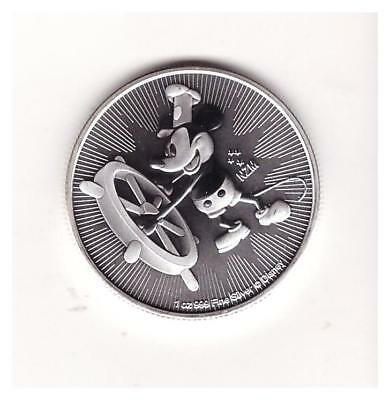 Silver 1 oz. 2017 Mickey Mouse Steamboat Willie