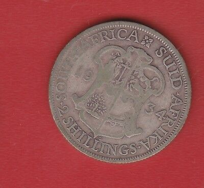 South Africa 2 Shilling 1934 Silver
