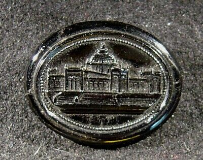 1876 Philadelphia Centennial World's Fair Memorial Hall Resin Brooch