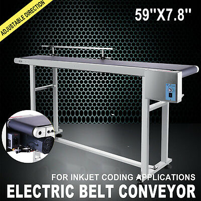 "Top-Grade Electric 59""x7.8"" PVC Belt Conveyors Systems Industrial Code Automatic"