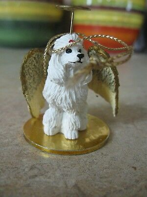 Concepts,tiny Ones White Poodle Angel Ornament