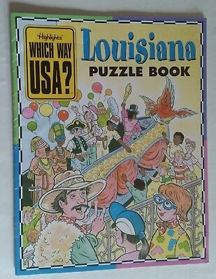 Highlights LOUISIANA Which Way USA Puzzle Activity Book Magazine ONLY / NO MAP