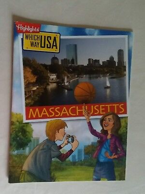 Highlights MASSACHUSETTS Which Way USA Puzzle Activity Book Magazine ONLY/NO MAP