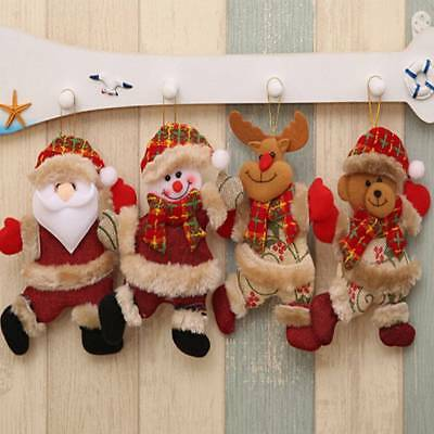 Hot Merry Christmas Ornaments Santa Claus Snowman Tree Hanging Decorations Gift