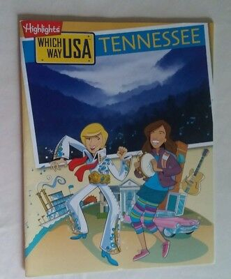 Highlights TENNESSEE Which Way USA Puzzle Activity Book Magazine ONLY/NO MAP