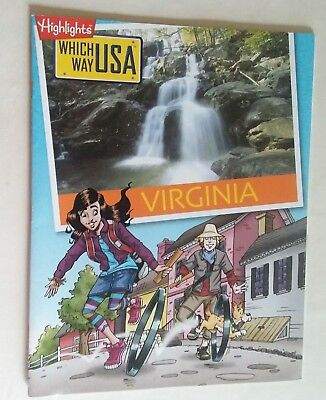 Highlights VIRGINIA Which Way USA Puzzle Activity Book Magazine BOOK ONLY/NO MAP