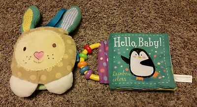Usborne Books and Kane Miller Cloth Baby Books Hello, Baby and Bunny