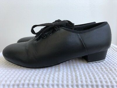 Paul Wright Jazz Tap Shoes Black Lace Up Size 3 1/2