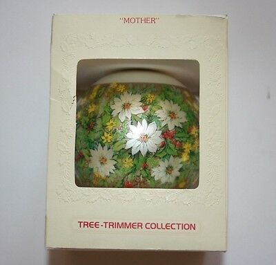 """Vintage 1979 Hallmark Tree-Trimmer Collection Glass Ornament """"Mother"""" in Box"""