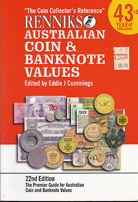 Renniks Australian coin & Banknote Values 22nd ed The Coin Collectors Reference