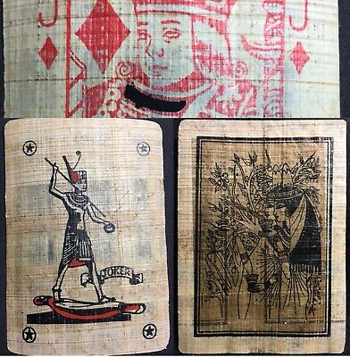 Vintage Egyptian Papyrus Original Authentic Artisan Playing Cards Ancient Egypt