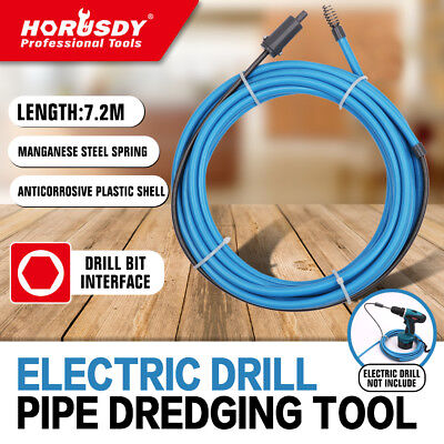 7m x 6mm Power Drill Snake Drain Cleaner Plumbing Sink Pipe Cleaning Unblocker