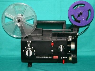 ELMO K-100SM  DUAL 8mm SILENT MOVIE PROJECTOR 100w SERVICED BY PROJECTOR HEAVEN