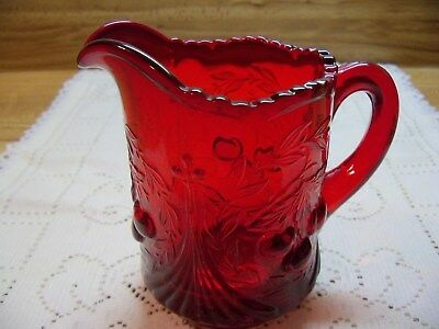Red Cable & Cherries Creamer