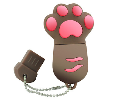 Lovely cartoon Brown paw USB2.0 16GB flash drive memory stick pendrive cute gift