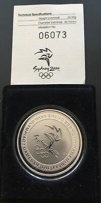 Uncirculated 2000 Olympics State rail Commemorative Silver medallion Certified