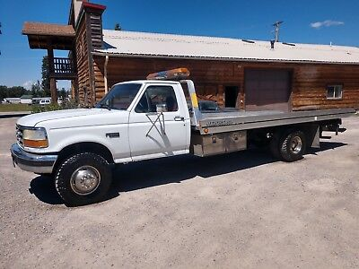 1995 Ford super duty rollback, 7.3 powerstroke turbo diesel, 5 speed, 19.5' bed