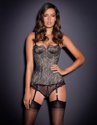Agent Provocateur Gold and Black Lace Corset 4 BNWT