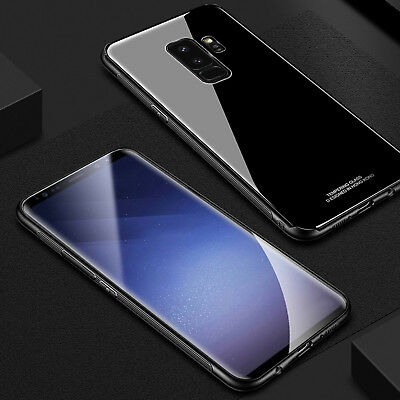 Luxury Hybrid Rubber Gorilla Glass Hard Case Cover For Samsung Galaxy Note 9/S9