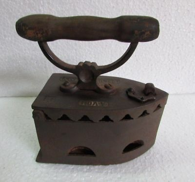 Antique Vintage old Rare Cast Iron Coal Ironing Clothes Press A-VON DELUX ITALY