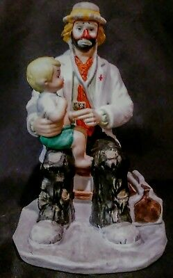 EMMETT KELLY JR. Dr. Doctor Child CLOWN  EXCLUSIVELY FROM FLAMBRO 1995 Excellent