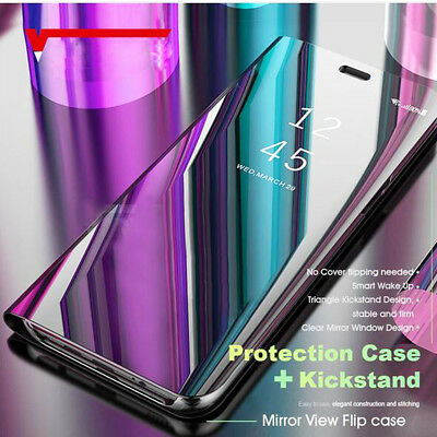 360° Flip Clear View Mirror Leather Smart Case Cover for Redmi Note 5 Pro/6 5+