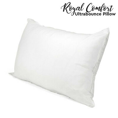 Royal Comfort Ultra Bounce Microfiber Soft Bed Pillows Home White Single Pack