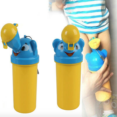 NEW Cute Baby Boy Travel Car Portable Urinal Toilet Kids Vehicular Potty UK